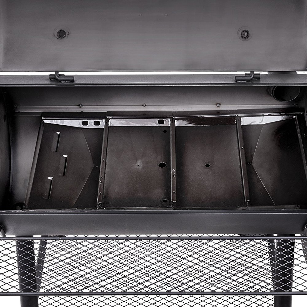 char broil oklahoma joe 39 s longhorn reverse flow offset charcoal barbecue smoker ebay. Black Bedroom Furniture Sets. Home Design Ideas