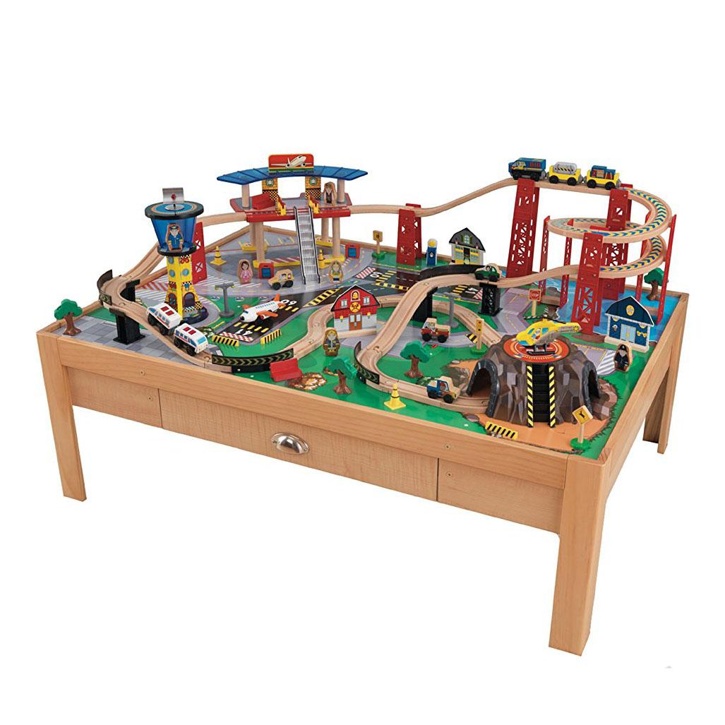 Wooden Play Toys : Kidkraft airport express wooden play kids railway train