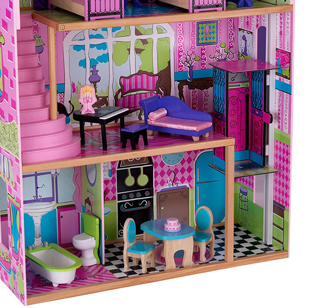 Kidkraft Suite Elite Mansion Wooden Dollhouse With Furniture Doll Family 70694365259 Ebay