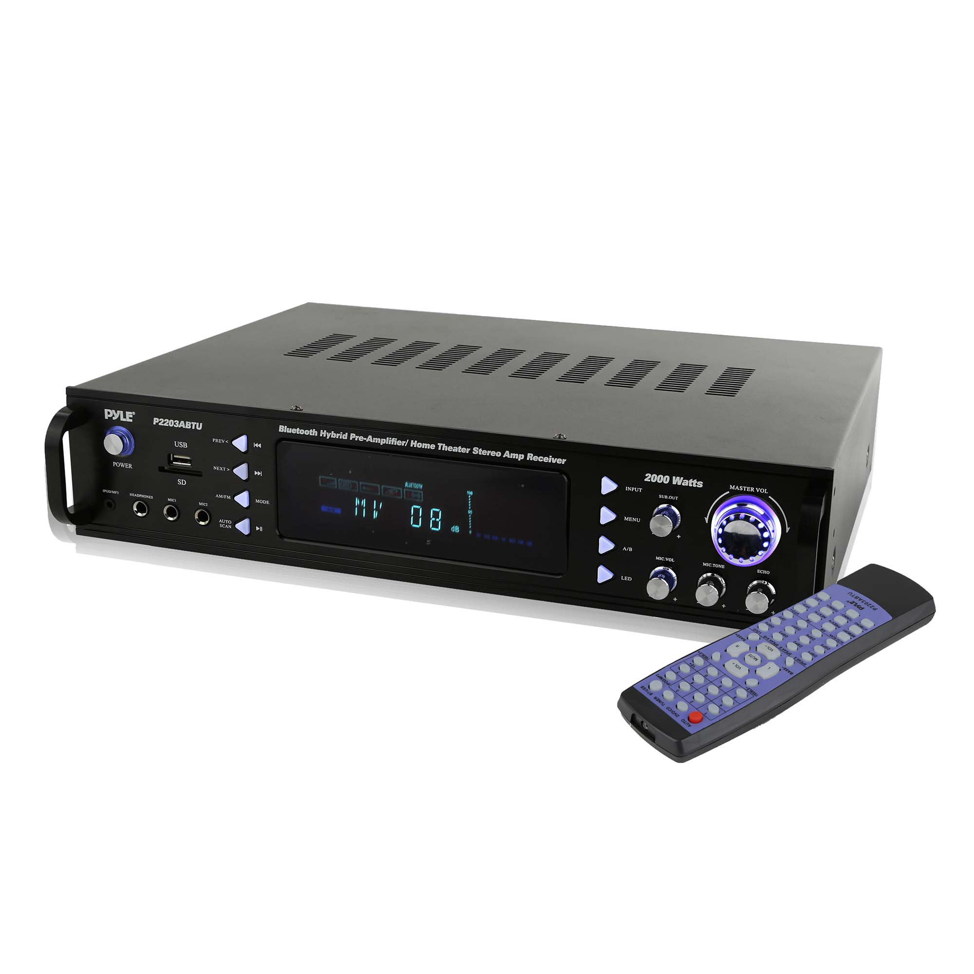 Details about Pyle Home Theater Bluetooth Hybrid Pre-Amplifier Stereo  Receiver | P2203ABTU