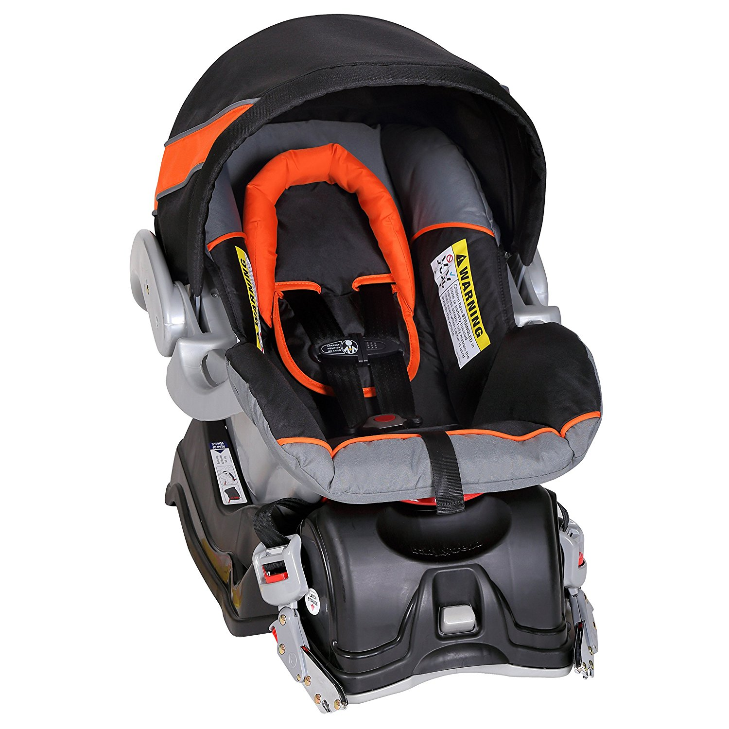 baby trend expedition travel system with stroller car seat millennium orange. Black Bedroom Furniture Sets. Home Design Ideas