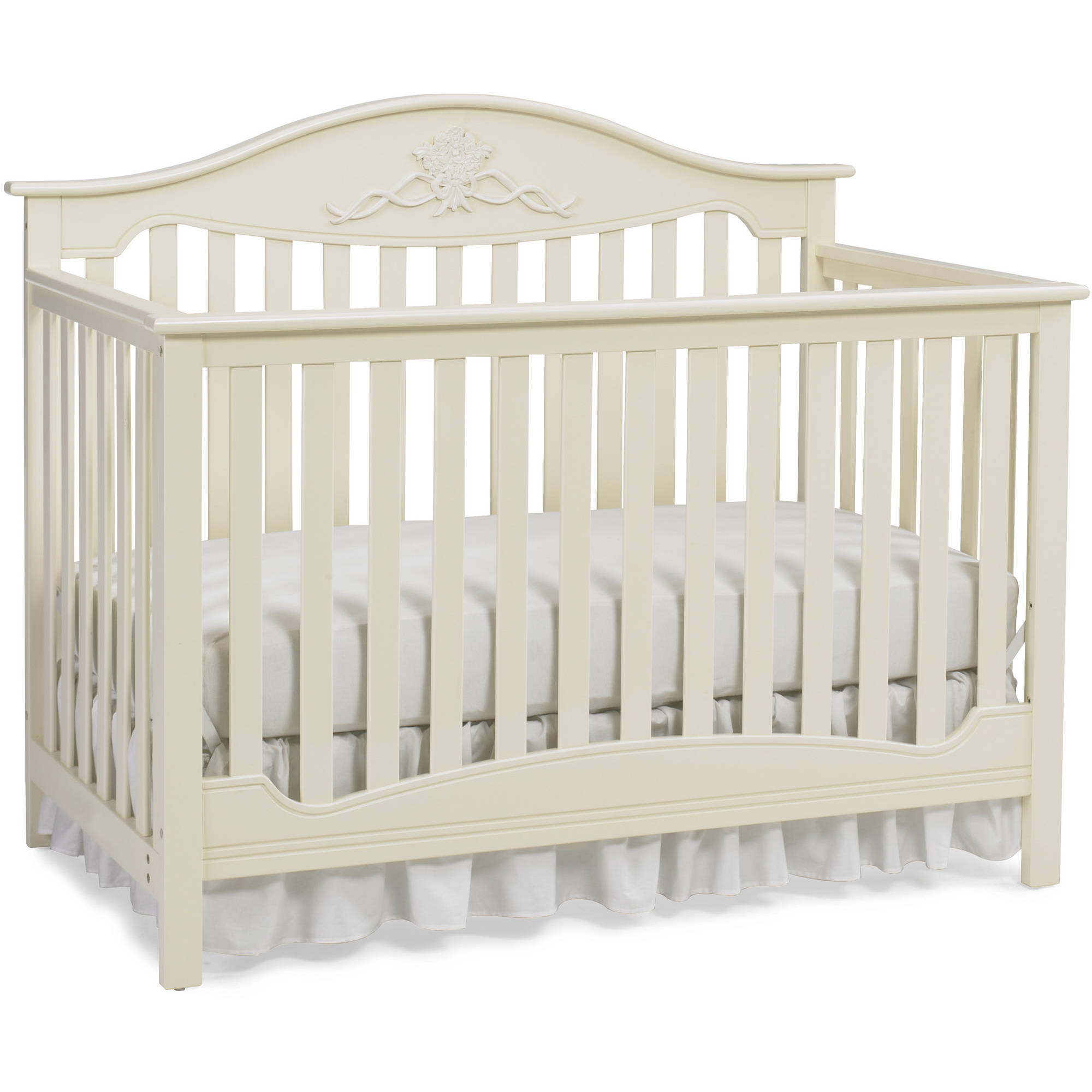 Fisher price 4 in 1 durable mia convertible baby crib to full bed sugar cookie