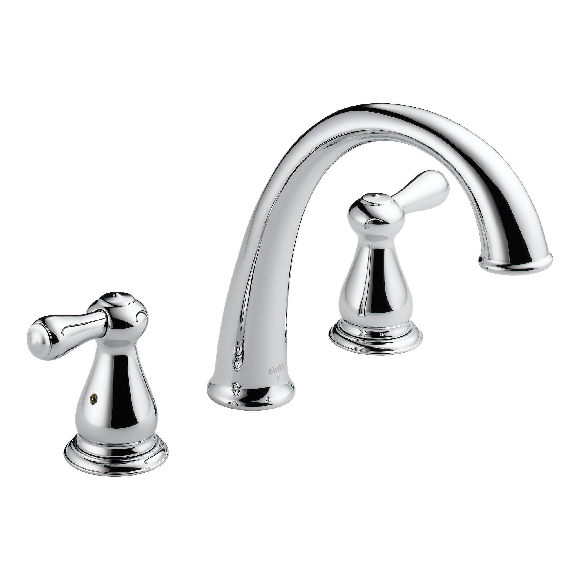 Delta Faucets Roman Two Handle Bathroom Tub Faucet Trim