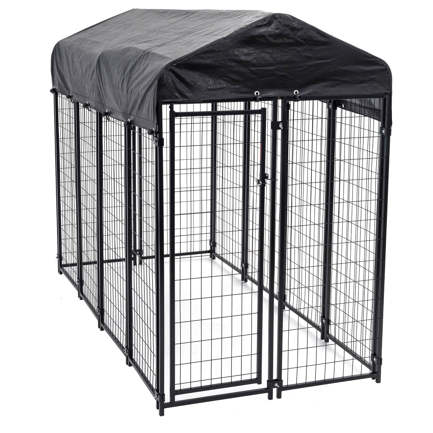 Lucky Dog Uptown Large Outdoor Covered Kennel Heavy Duty Pet Dog ...