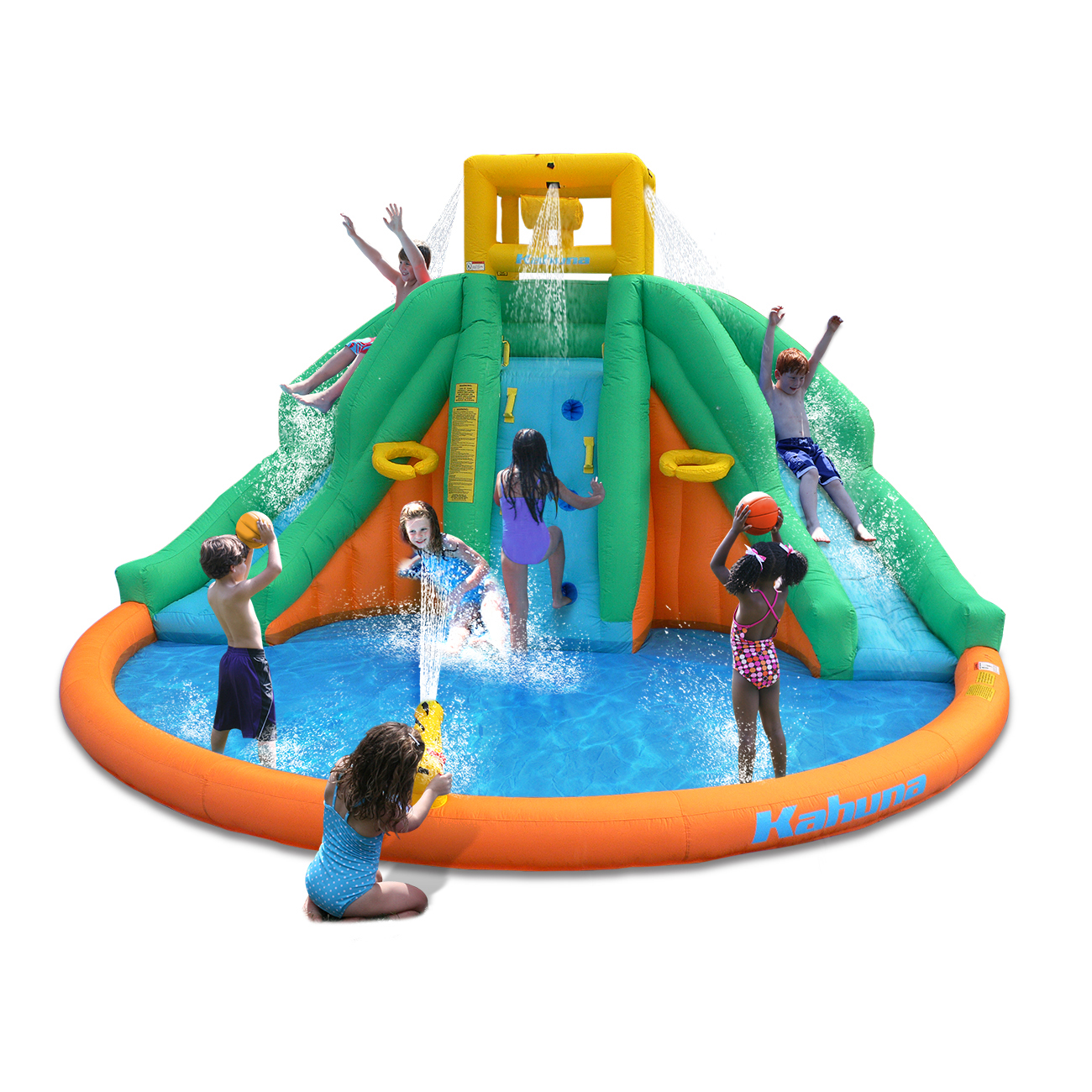 Magic Time Twin Peaks Kids Inflatable Splash Pool Backyard