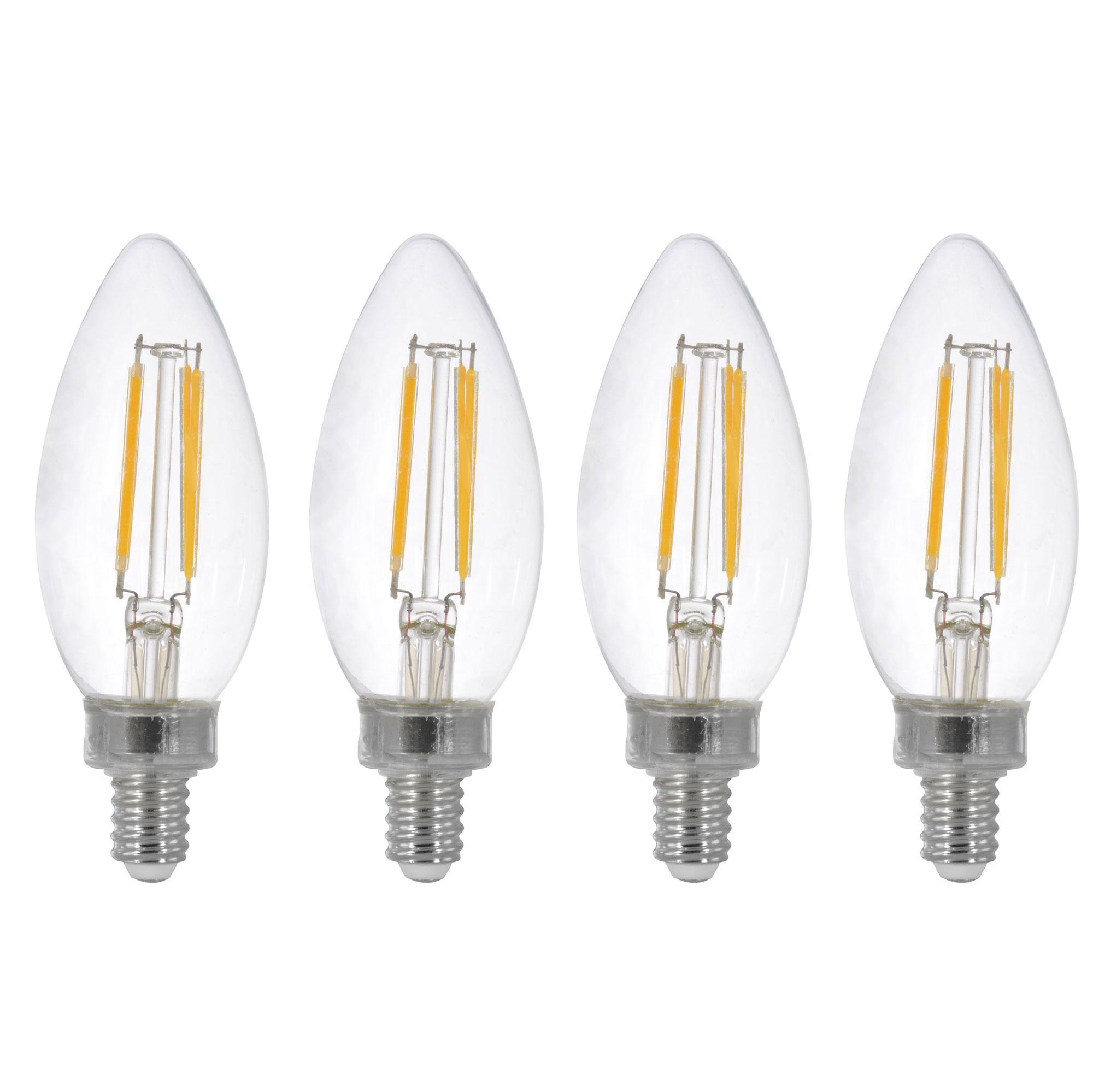 Led Light Bulb Candelabra Base: Sylvania Filament LED 40W Candelabra Base Dimmable 2700K