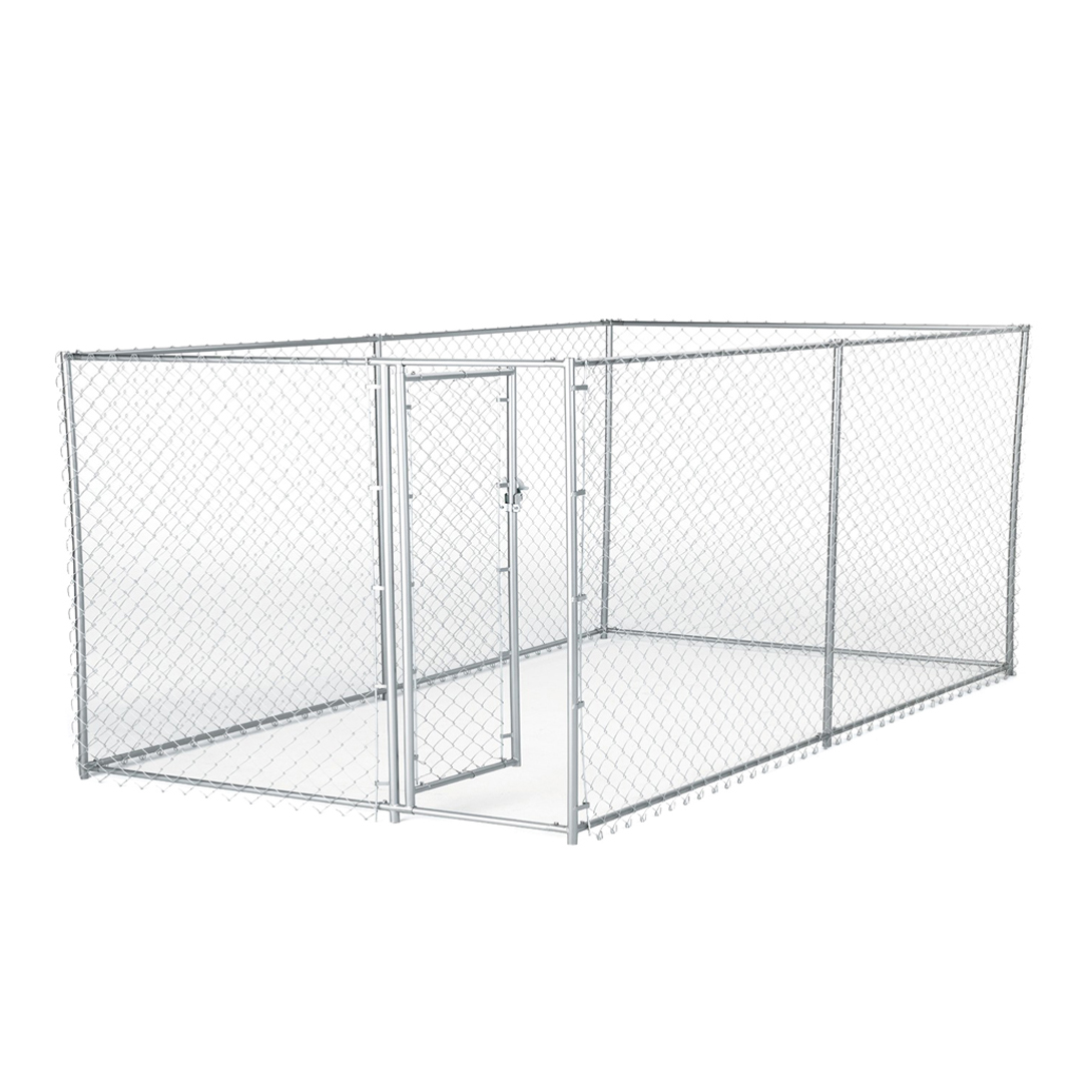 Details About Lucky Dog 10 X 5 4 Foot Heavy Duty Outdoor Chain Link Kennel Enclosure