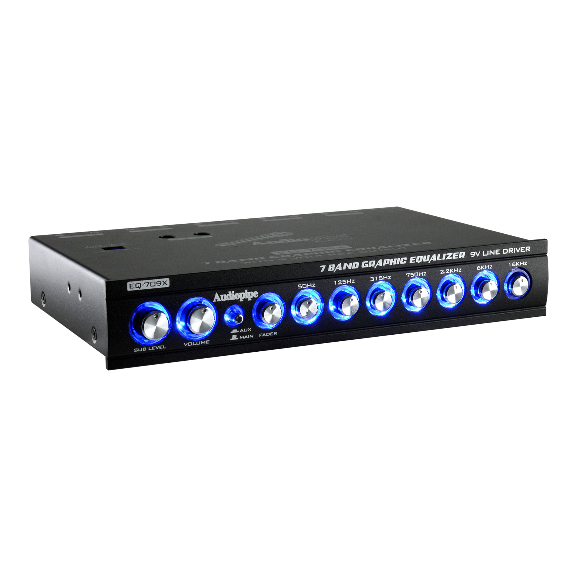 Details About Audiopipe Eq 908x 9 Band 9v Half Din Parametric Graphic Car Audio Equalizer Eq