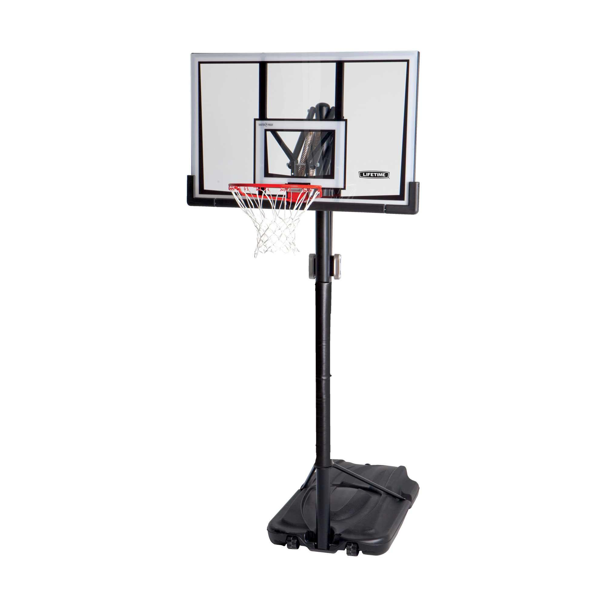 Lifetime quot portable adjustable basketball hoop system w