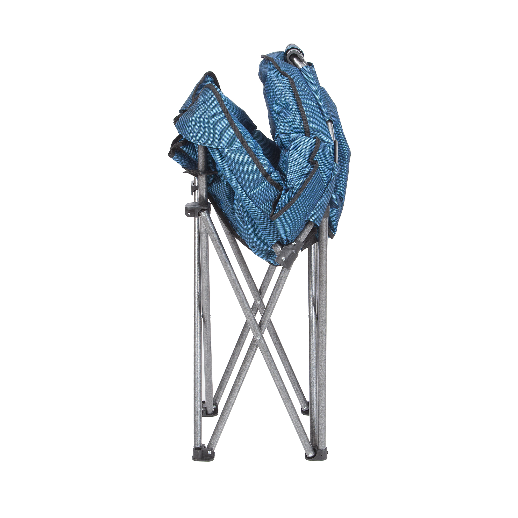 Mac Sports Folding Padded Outdoor Club Chair With Carry Bag Blue