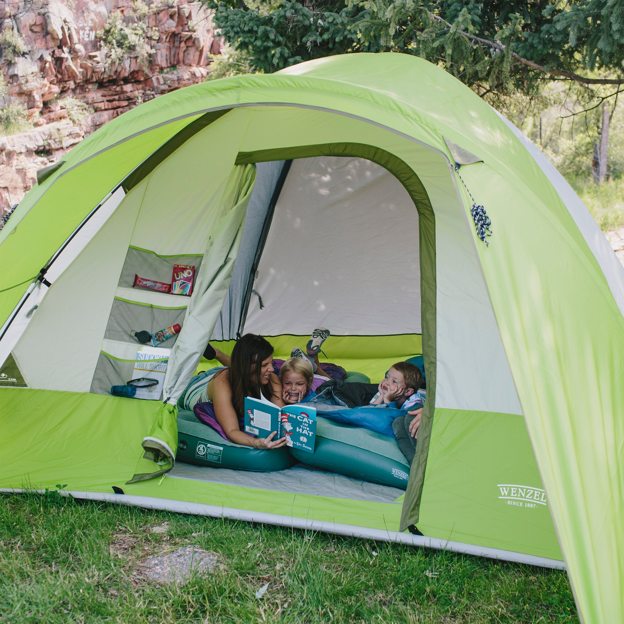 Wenzel 8 Person Portico 10 x 12 Ft. Outdoor Family Camping ...