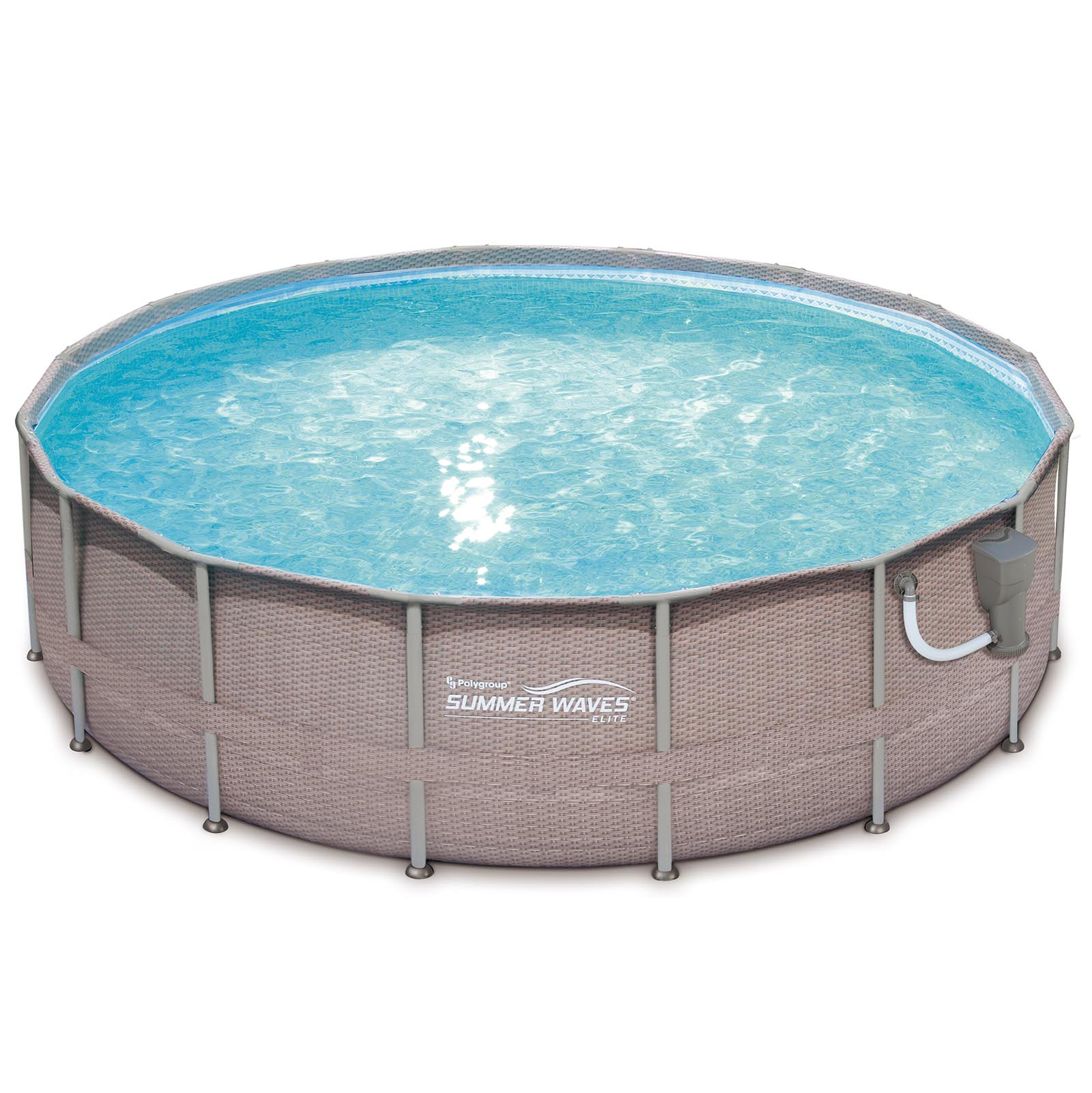 Summer waves elite wicker print 18 39 x 48 above ground for Billige pool sets