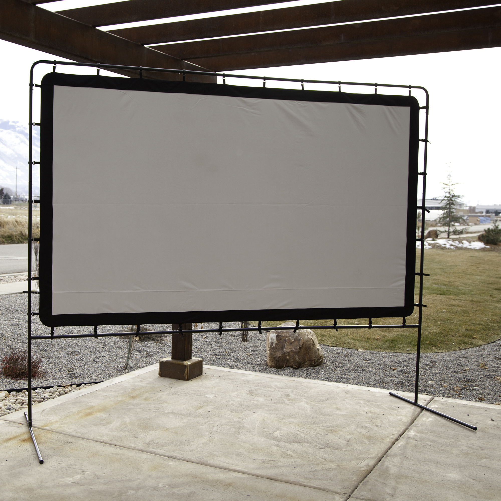 Camp Chef 144 Giant Indoor Or Outdoor Nylon Backyard Movie Projector Screen