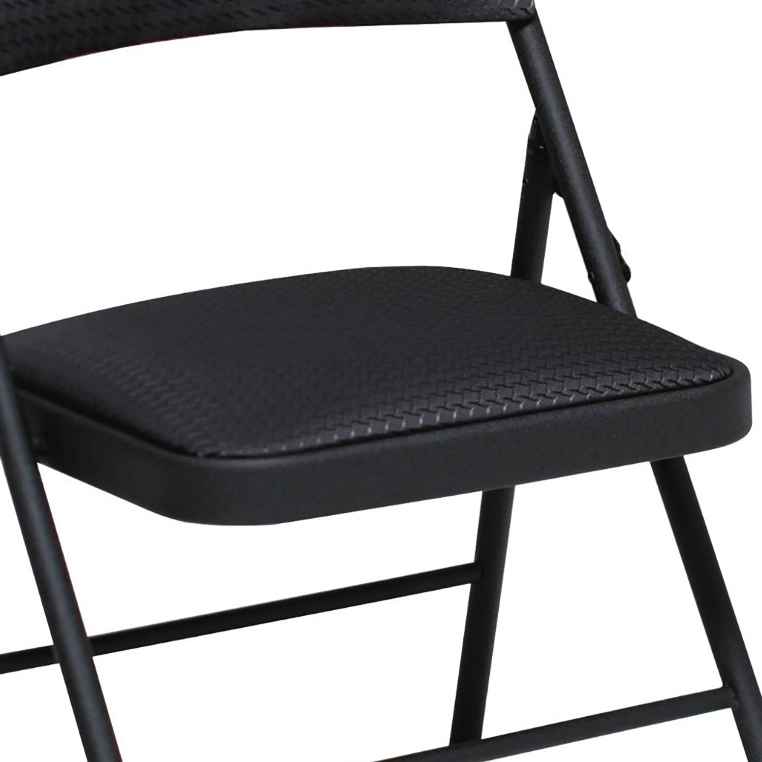 Cosco mercial Indoor Outdoor Black Folding Chair with Fabric