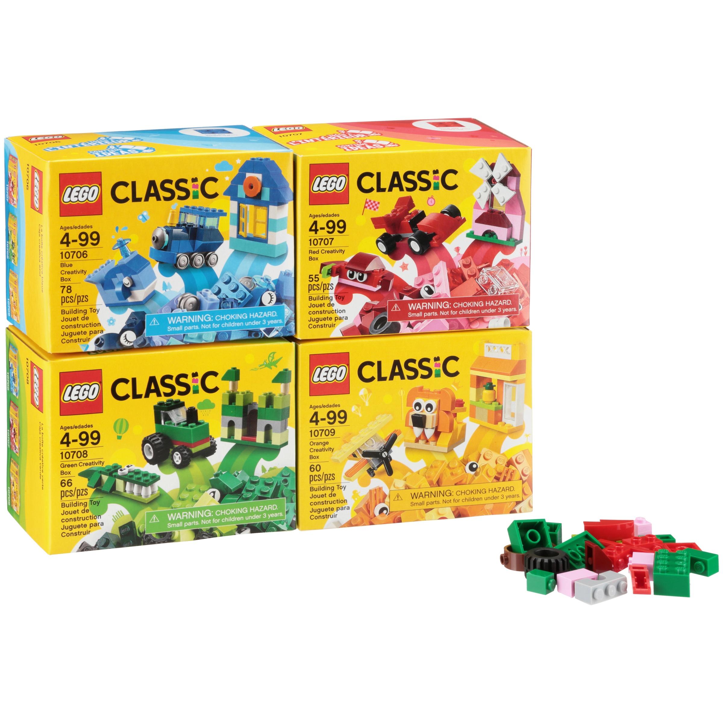 LEGO CLASSIC QUAD 4 PACK 66554 RED GREEN BLUE ORANGE 10706 10707 10708 10709