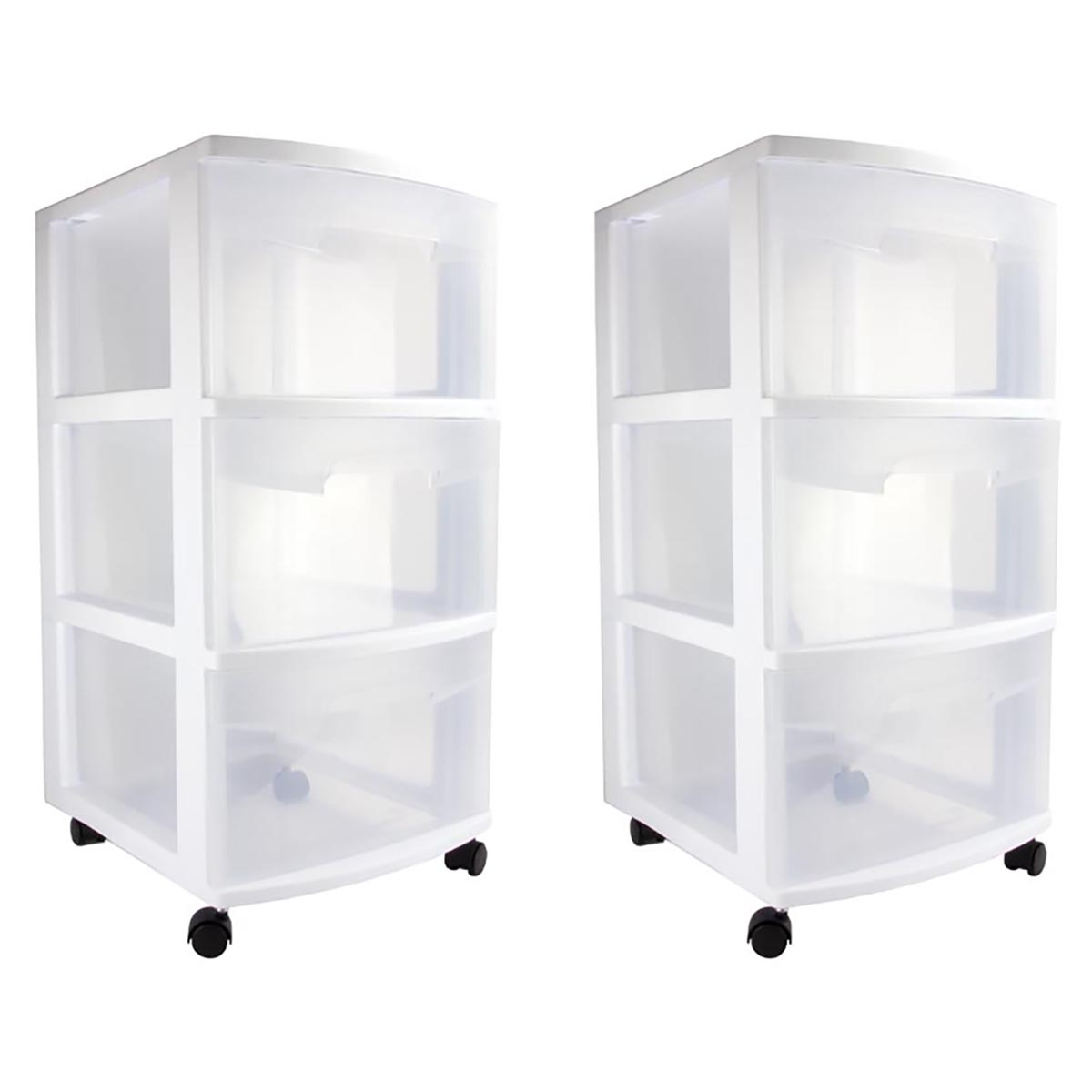 Portable Storage Carts : Sterilite home drawer storage cart portable container