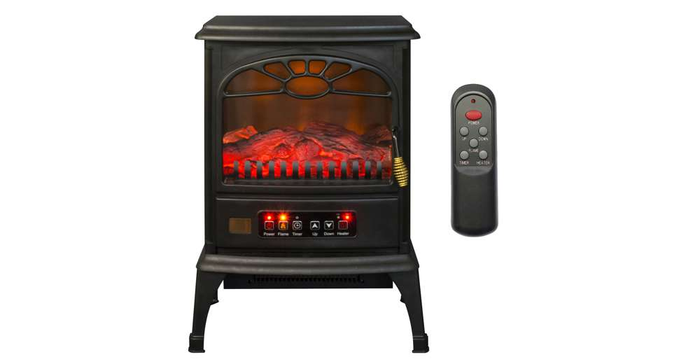 Fireplace Design lifesmart fireplace : LifeSmart 1500W Large Room 3-Sided Portable Electric Infrared ...