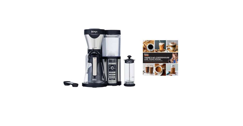 Ninja Coffee Maker Black Friday Deal : Ninja Glass Coffee Bar Machine w/ Glass Carafe & Frother + 100-Recipe Cook Book eBay