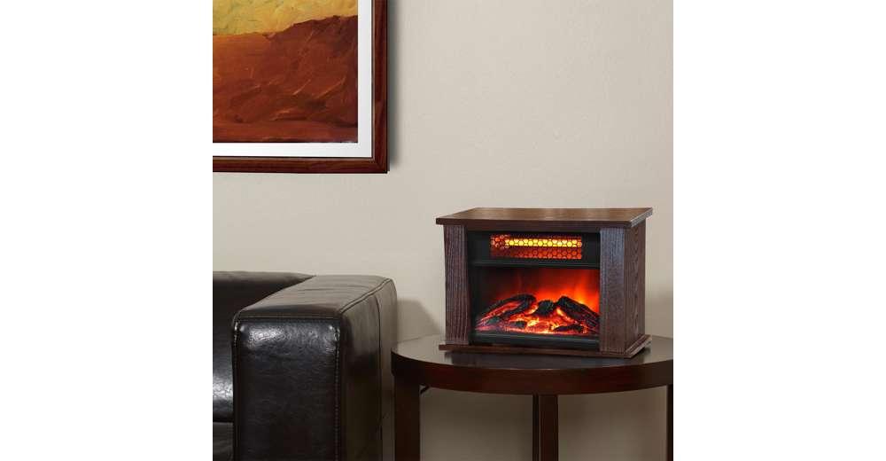 Fireplace Design lifesmart fireplace : LifePro Lifesmart 750 Watt Infrared Quartz Mini Wood Fireplace ...