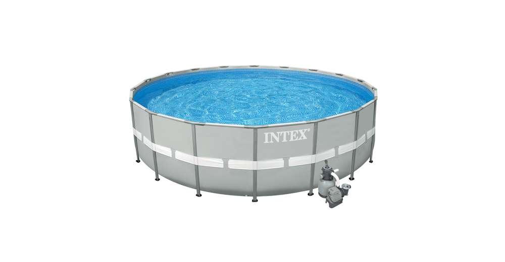 Intex 20 39 x 52 ultra frame above ground swimming pool set for Intex gartenpool