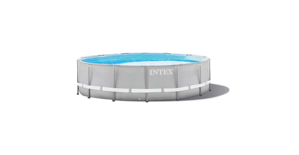 Intex 15 foot x 48 inch ultra frame above ground swimming for Intex gartenpool