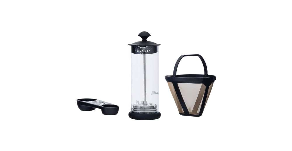 Ninja Coffee Maker With Frother : Ninja Coffee Bar Coffee Bar w/Glass Carafe, Frother & 100 Recipe Cookbook CF080W eBay