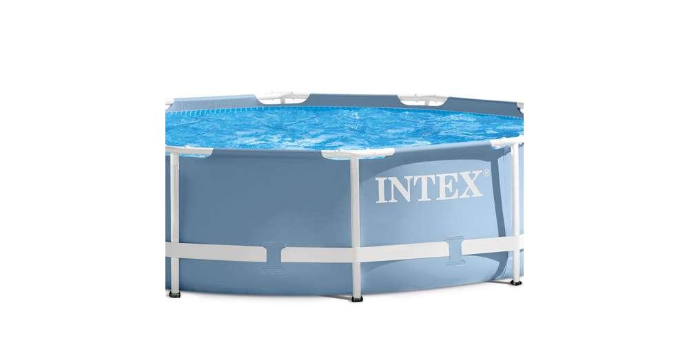Intex 12 feet x 30 inches prism frame above ground pool for Intex gartenpool