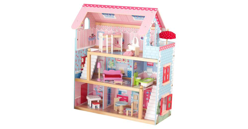 Kidkraft Chelsea Wooden Dollhouse Pretend Play Cottage With Furniture 65054 Ebay