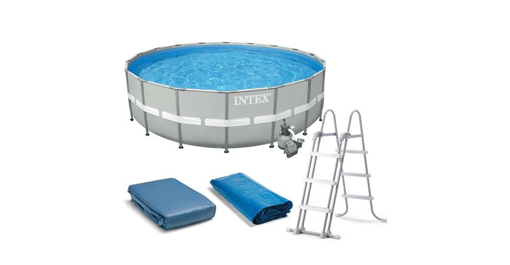 Intex 20 39 X 52 Ultra Frame Above Ground Swimming Pool Set With Sand Filter Pump Ebay