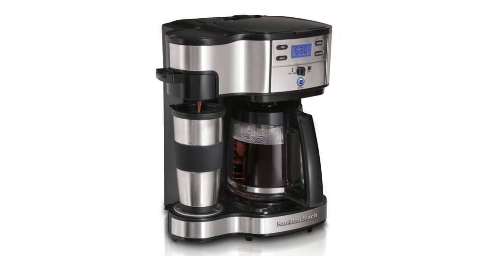 One Cup Coffee Maker Programmable : Hamilton Beach 2 Way Single Serve or 12 Cup Programmable Coffee Maker 49980Z eBay