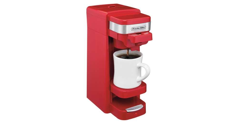 Proctor Silex FlexBrew Single Serve Pack or Ground Coffee Maker, Red 49977 eBay