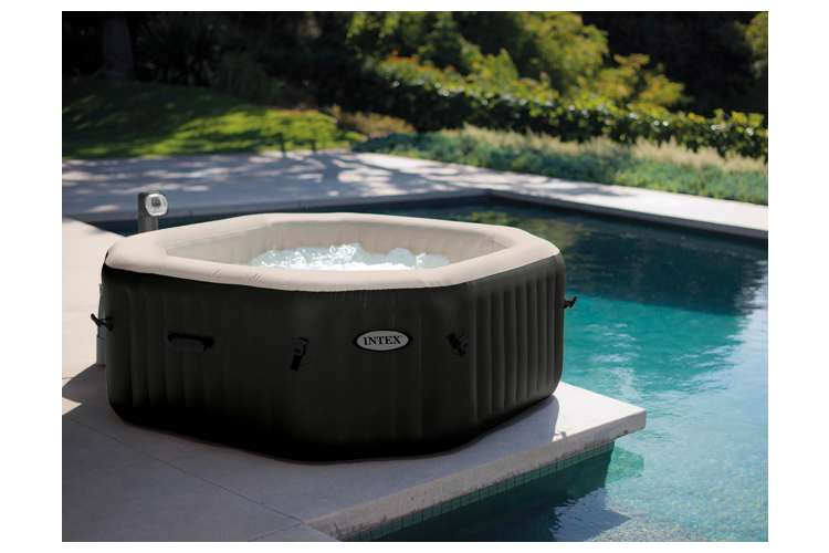 intex pure spa 4 person inflatable jet bubble massage hot tub 28453e. Black Bedroom Furniture Sets. Home Design Ideas