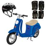 Razor Pocket Mod Electric Scooter + Youth Helmet + Elbow & Knee Pads
