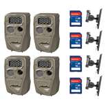 Cuddeback 20MP Trail Camera (4 pk) + 16GB SD Card (4 pk) + Camera Mount (4 pk)