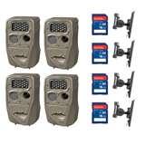 Cuddeback 20MP Trail Camera (4 pk) + 16GB SD Card (4 pk) + Camera Mount (4 pk)