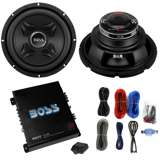 "2) Boss CXX10 10"" 1600W Car Audio Power Subwoofer Sub+ Mono Amplifier+Amp Kit"