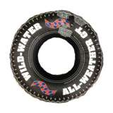 "Swimline 36"" Inflatable Floating Tire Tube w/ Electric Pump 