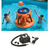 Swimline Basketball Pool Shootball Game w/ Electric Air Pump | 90285 + 9095