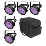 Chauvet SlimPar 56 Slim Par Can Light (5 Pack) + Carry Bag