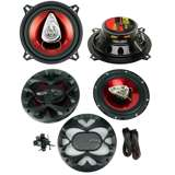 "2) BOSS CH5530 5.25"" 3-Way 225W + CH6530 6.5"" 300W 3 Way Car Coaxial Speakers"