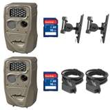 Cuddeback Trail Camera (2pk) + 16GB SD Card (2pk) + Mount (2pk) + Cable (2pk)