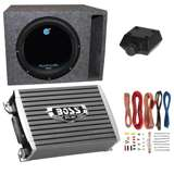 Planet Audio 1800W Subwoofer with 1500W Amplifier,  Amp Kit & Q-Power Enclosure
