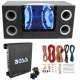 "Pyramid BNPS122 12"" 1200W Car Audio Subwoofer w/ Box,1100W Mono Amp,& Wiring Kit"