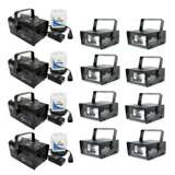 Chauvet H 700 Hurricane Fog/Smoke Machines H-700 (4) + CH-730 Mini Strobe Lights (8)