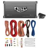 BOSS AUDIO AR1600.4 1600W 4 Channel Car Amplifier AR16004+Remote+8 Ga Amp Kit
