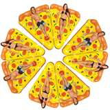 8-Pack Of Swimline Inflatable Pizza Rafts To Make A Whole Pizza