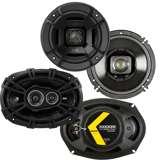 "Polk Audio 6.5"" 300W Marine Speakers + Kicker D-Series 6x9"" 360W Car Speakers"