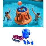 Swimline Basketball Pool Shootball Game w/ Electric Air Pump   90285 + 19150