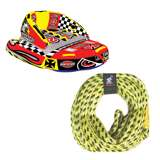 Sportsstuff Chariot Warbird 2 Rider Towable Tube & Airhead 60-foot Tow Rope