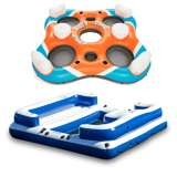 Intex Oasis Island 5-Person Lounge Raft & Bestway Rapid Rider 4-Person Island